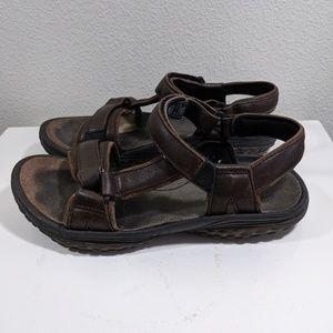 TEVA Leather Brown Waterproof Sport Sandals 8